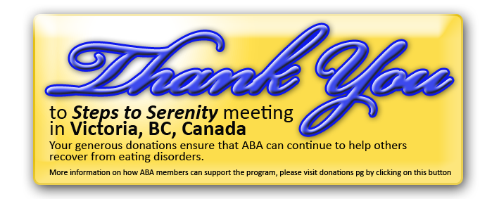 Steps to Serenity Group button Thank you